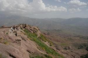 A modern-day shot of the castle of Alamut.