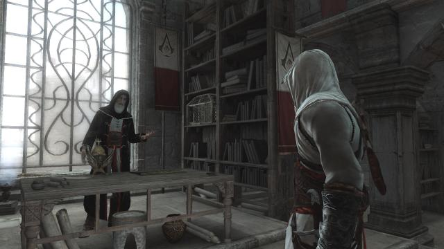"The creed of the Assassin brotherhood is ""Nothing is true; everything is permitted."" Screen shot from Assassin's Creed."