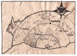 A map of the post-Apocalyptic setting of Antioch