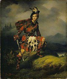 Allan Macaulay, of my mother's ancestry--you can tell be the colour patterns used in his kilt.