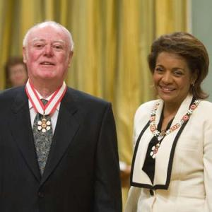 Alistair MacLeod, author of No Great Mischief, receiving The Order of Canada from Governor General Michaelle Jean in 2011.
