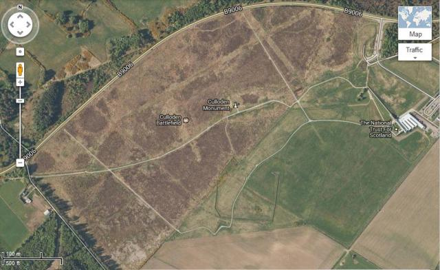 The actual battlefield, several hundred years after.