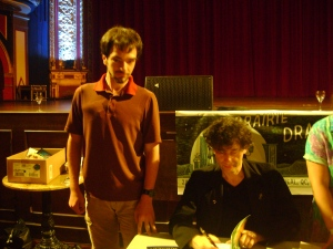 A little less memorable was briefly standing near Neil Gaiman at the Rialto Theatre. Not enough time to talk. Too many people.
