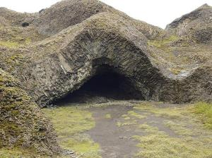 Elf house near a bicycle track in Iceland.