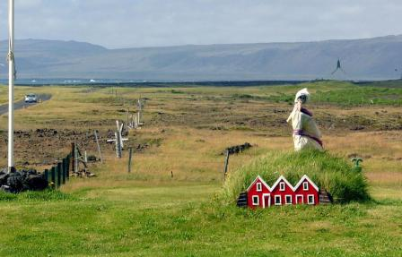 An set of elf houses in Iceland.