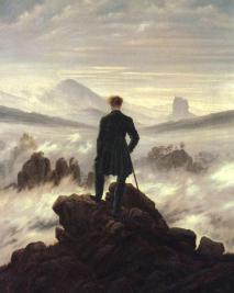 Eternal Wanderer: a famous painting of the sublime alps, often a cover for editions of Frankenstein. Also an apt name for a literature student. http://wp.me/p32Kr4-aj