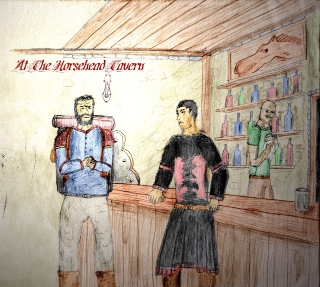 Gramrige and Roy at the Horsehead Tavern at Ebrook