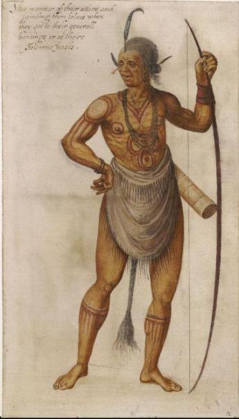 John White Watercolour of Virgnia Native American http://wp.me/p32Kr4-aF