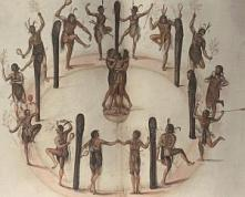 John White Watercolour Native American Ritual http://wp.me/p32Kr4-aF