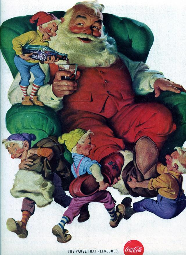 "Merry Christmas! From Santa Claus and his ""Huldufolk."""