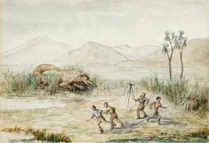 Taniwha spotted by observers. I wonder if they actually took a picture of the beast?