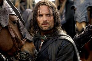 "Aragorn is a lonely wanderer like Roland, but ""not all who wander are lost; the crownless again shall be king."""