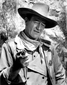 John Wayne is a famous actor in classic Westerns, another archetype for Roland.