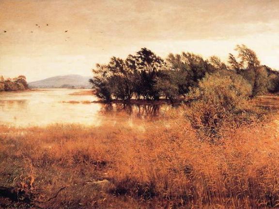 A Pre-Raphaelite Landscape