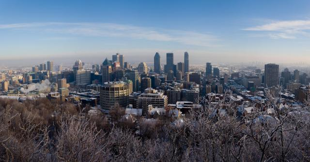Montreal, view from Mount Royal.