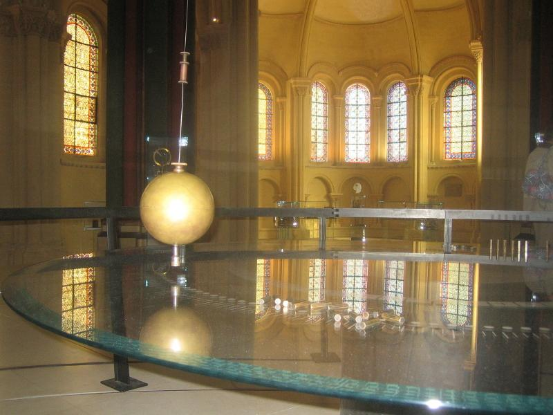 Foucault's Pendulum, Paris: a pendulum serves back and forth as the ages move between ideas.