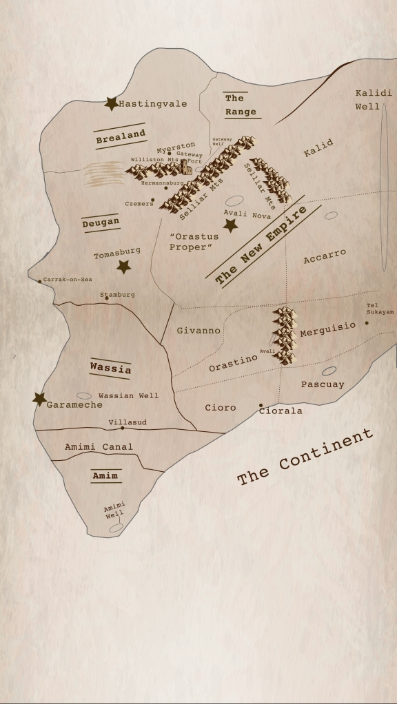 Map of the Continent in Gateways