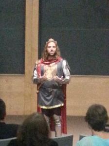 Christ Gaertner as King Arthur (the hair is real)