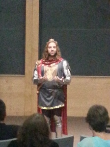 Christ Gaertner as King Arthur (the hair is real)