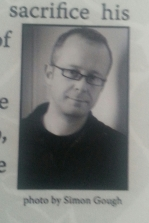 Mark H Williams, author of Sleepless Knights. Photo taken from back cover.