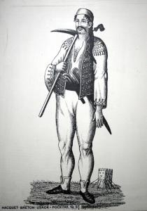 An uskok pirate. https://commons.wikimedia.org/wiki/File:Uskok_EMZ_1300109.jpg