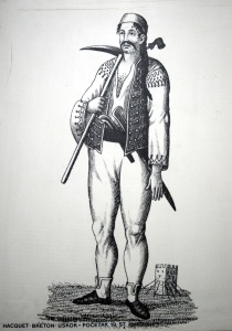 An uskok pirate. https://commons.wikimedia.org/wiki/File:Uskok_EMZ_1300109.jpg