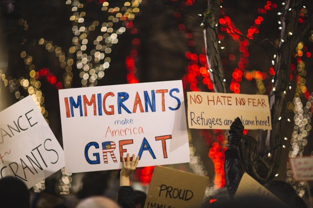 pro-immigrant rally