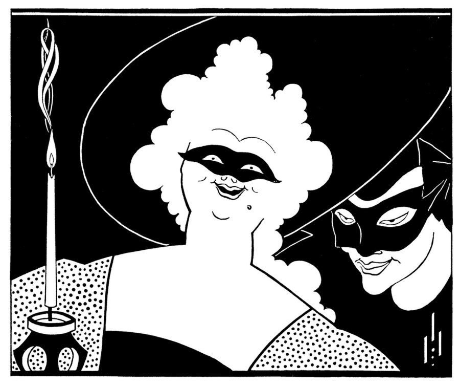 Masquerade, an illustration by Aubrey Beardsley