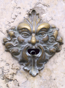 a green man waterspout